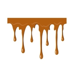 Flowing caramel icon vector image