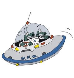 Funny ufo vector