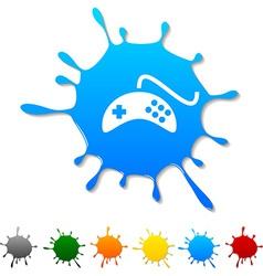 Gamepad blot vector