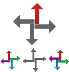 Geometric Arrow Logo Set vector image vector image