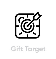 Gift target personal targeting icon editable line vector