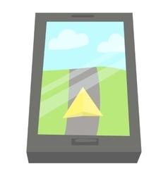 GPS navigation icon cartoon style vector