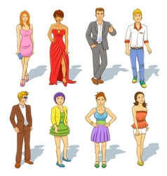 Group of people cartoon vector image