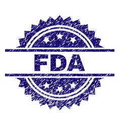 Grunge textured fda stamp seal vector
