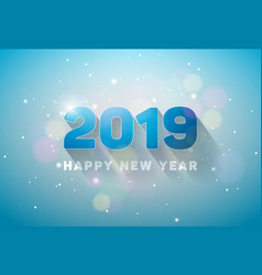 Happy new year 2019 with 3d number on vector