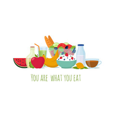 healthy balance diet food best meals for life vector image