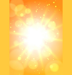 Hot sun background vector