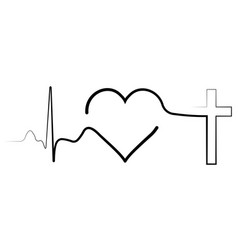 Icon meaning life pulse heartbeat vector