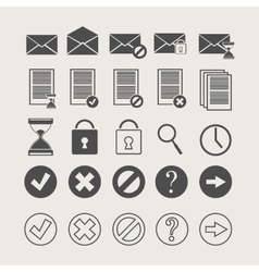 Icons of documents and mail vector