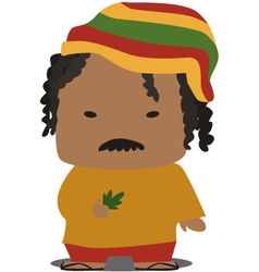 Jamaican person vector