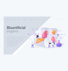 Lab-grown organs landing page concept vector