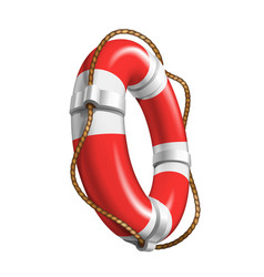 Life saver boat element for help drowning vector