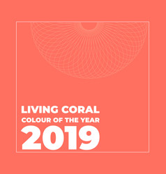 living coral color of the vector image