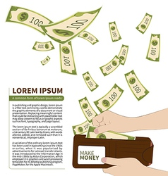 Make money vector image