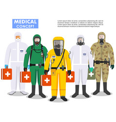 Medical concept detailed different vector