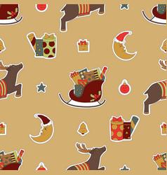 merry christmas cute design vector image