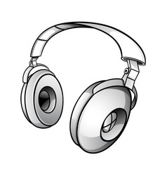 Modern dj headphones vector