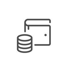 modern wallet line icon vector image