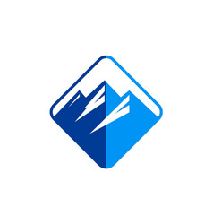 mountain abstract icon logo vector image