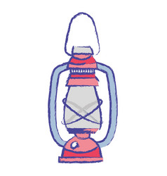 old lamp hand retro style vector image