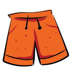 orange shorts on white background vector image