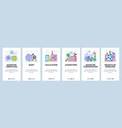 Quantum computing website and mobile app vector