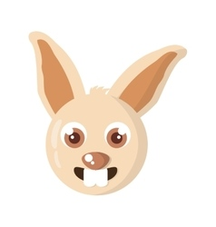 rabbit animal farm isolated icon vector image