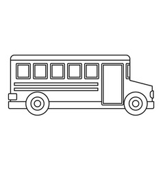 school bus icon outline style vector image