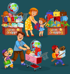 school shopping poster vector image