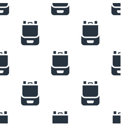 seamless backpack pattern education symbol from vector image