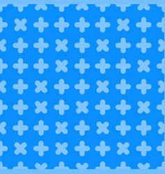 seamless cross pattern - geometric bright vector image