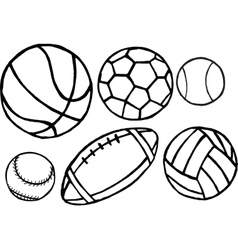 set different sport balls vector image