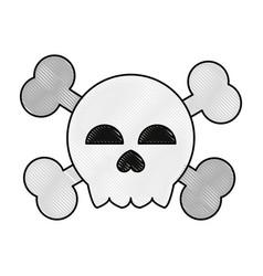 skull and bones symbol vector image