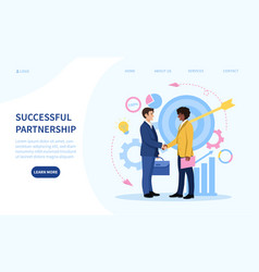 Successful partnership concept with two vector