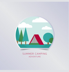 summer camping greeting card typography flyer vector image