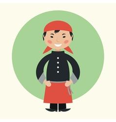 Sushi master vector image