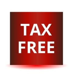 Tax free red web glossy icon vector image