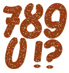 Tempting tipography font design 3d numbers 7890 vector