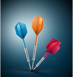 Three darts vector