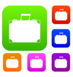 travel bag set color collection vector image