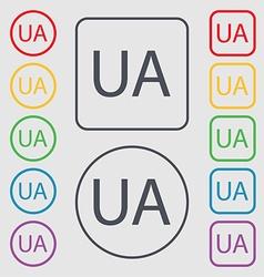Ukraine sign icon symbol UA navigation Symbols on vector