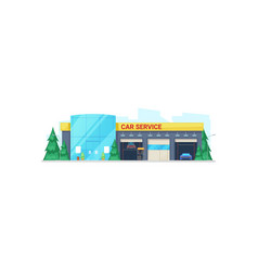 vehicle repair and maintenance isolated building vector image