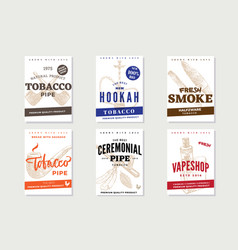 vintage tobacco advertising posters vector image