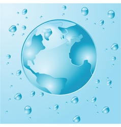 Water earth vector