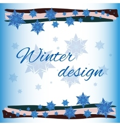 winter card background vector image
