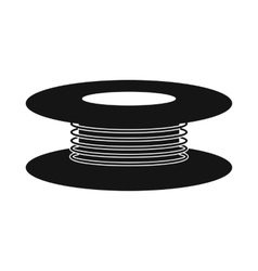 Wire spool icon simple style vector