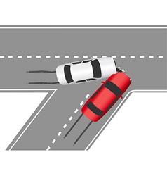 Auto traffic collision road cars vector
