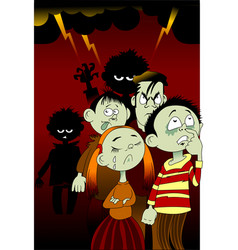 bad children vector image vector image