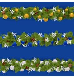 Christmas Borders Set 2 vector image