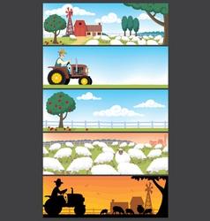 farm landscapes vector image